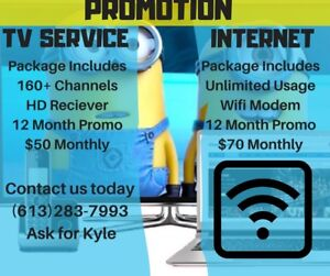 Promotion on Tv and Internet services