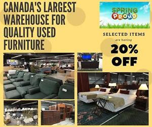 CANADA'S LARGEST WAREHOUSE ON SALE  *20% OFF ON SELECTED ITEMS *Furniture that are useful for the NEWCOMERS, NEWLYWEDS