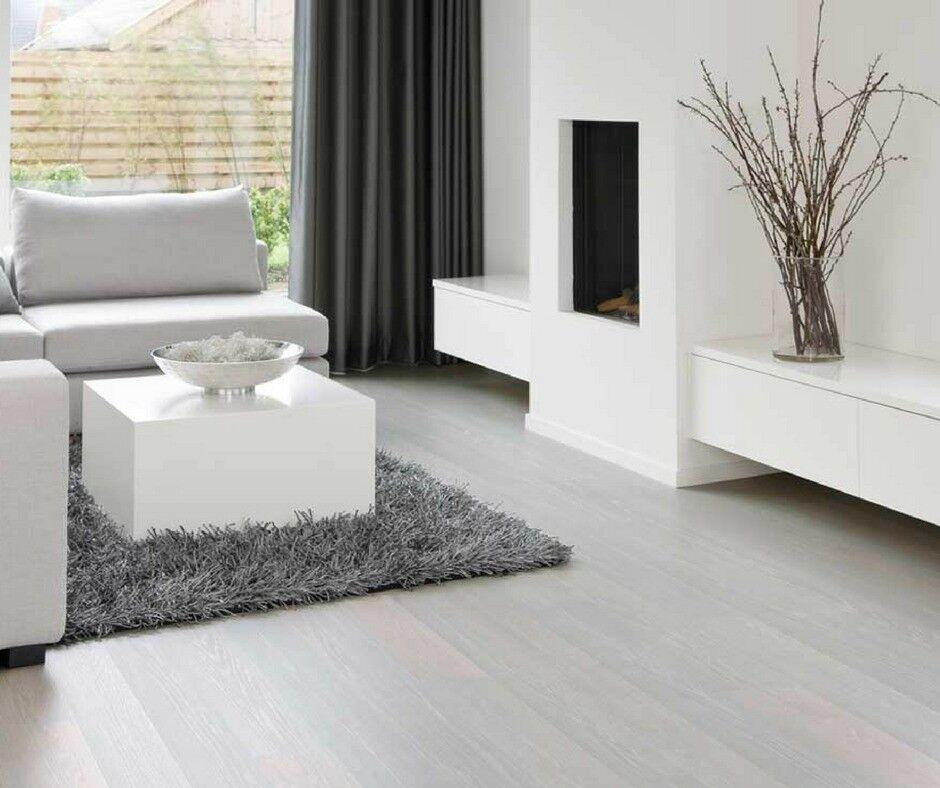Brand New 5 x 4 yd White Click Laminate Flooring With Free Underlay ...