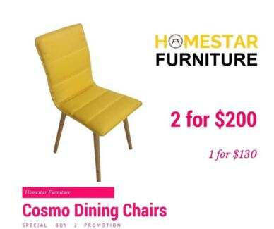 Cosmo Dining Chair Promo Buy 2 for $200