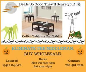 SCARY GOOD DEALS !!! Coffee Table +2 End Tables for 149 Only!!!