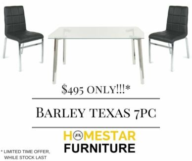 Barley Texas 7pc Dining Set Limited Time Offer Only $495
