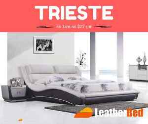 FULLY Leather Bed Styles From $29 per week King Queen or Double