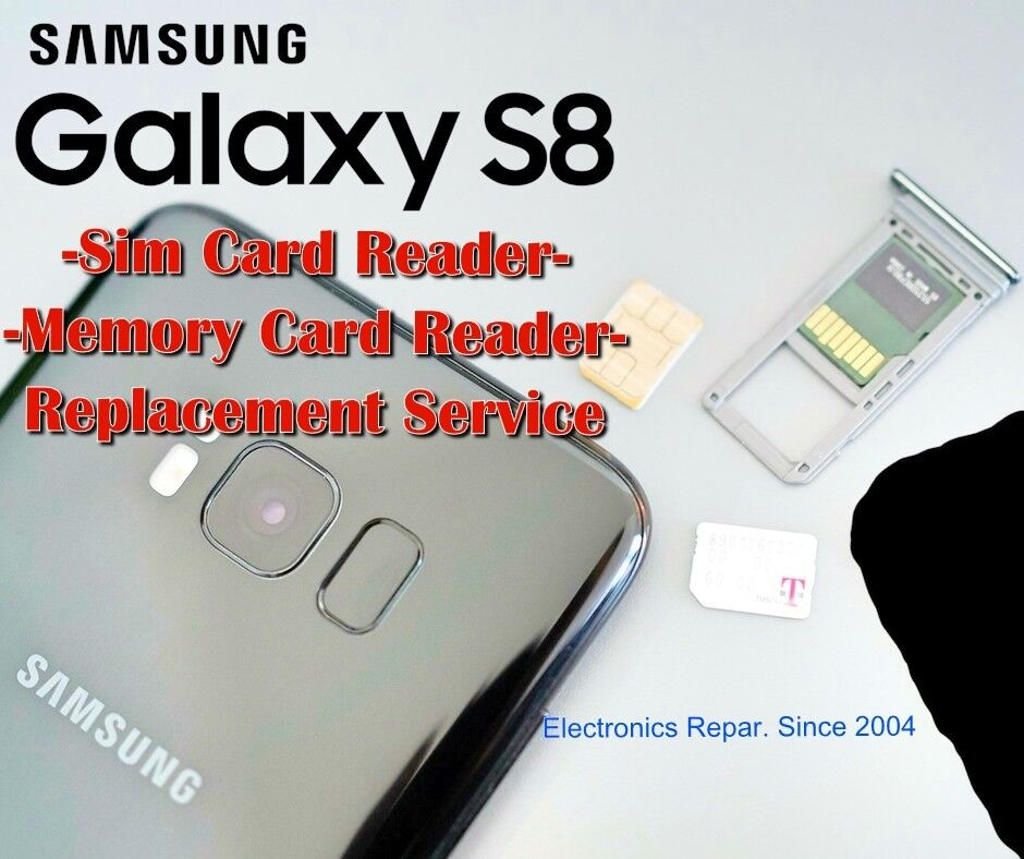 Details about Samsung Galaxy S8 Sim Card Reader SD Memory Card Tray Reader  Repair Replacement