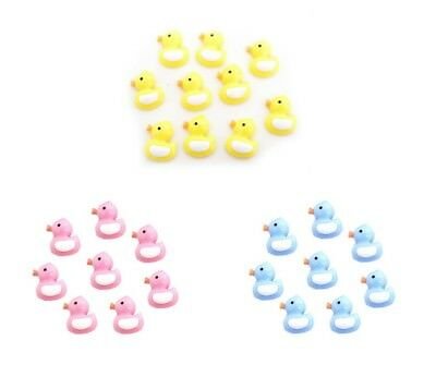100PC Mini Plastic Baby Shower Duck Theme Decorations Ducky Favors Pink - Duck Baby Shower Decorations