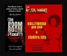 The ROCK VAULT @ the BooM BooM Room SAVE 33% tickets! Adelaide CBD Adelaide City Preview