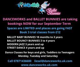 DANCE CLASSES FOR BALLET BUNNIES, STREET, HIP-HOP, BALLET BASICS, MODERN JAZZ