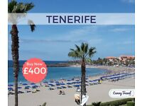 SAVE! Spain Cancellation! 2 One Way Flights, flying from Manchester to Tenerife.