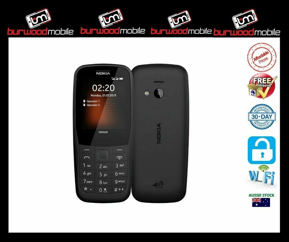 Android Phone - Nokia 220  Black - [Au Stock]- Brand New- 4G Phone
