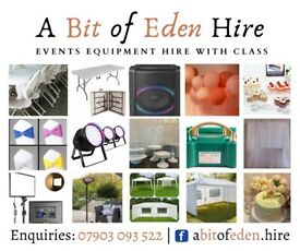 Tables & Chairs for Hire + Party Speaker, Outdoor Heaters, LED Lights & Gazebo/Marquee Tent to Rent