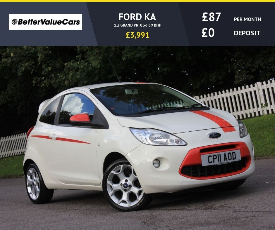ford ka 1 2 grand prix 3d 69 bhp rac warranty breakdown white 2011 in vale of glamorgan. Black Bedroom Furniture Sets. Home Design Ideas