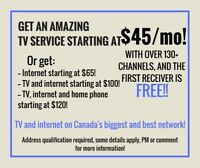 Get fantastic TV and internet at a great price!