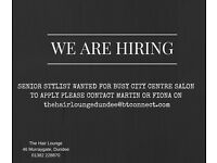 Senior Stylist required for busy city centre Salon