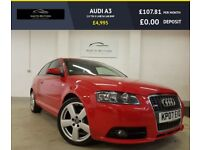AUDI A3 2.0 TDI S LINE 3d 168 BHP FULL S LINE LEATHER (red) 2007