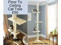 Floor to ceiling Cat Tree - FREE DELIVERY