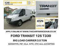 NEEED A CAR ? CANT GET CREDIT ? GIVE US A TRY ...TRANSIT T330...REPRESENTATIVE APR 14% FLAT