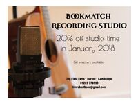 Bookmatch Recording Studio - 20% off studio time in January