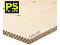 12mm Elliotis Pine Softwood Plywood 1220 x 2440 Sheet