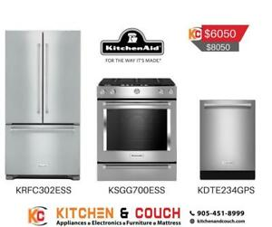 KitchenAid Appliance Package -Fridge, Stove, Dishwasher (KTN403)