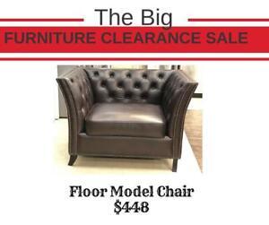 Big Floor Model Clearance Sale - Brown Chair on Sale (FM1)