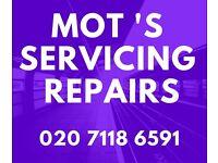 CAR SERVICING - MOT TESTING - CAR REPAIRS - Walthamstow Central Garage - MOT TEST SPECIAL OFFER £39