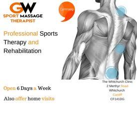 Professional Cardiff Sports Massage Therapist. Deep Tissue Rehab and Injury Care Cardiff