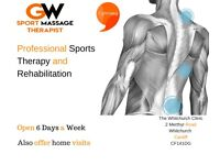 Professional Cardiff Sports Massage Therapist. Deep Tissue Rehab and Injury Care Cardiff