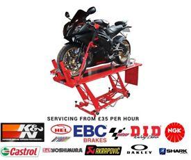 Motorcycle servicing and repairs york