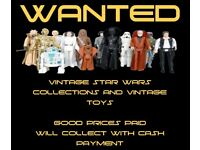 Wanted Vintage Star Wars Toys Collection attic Finds CASH paid