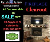 Fireplace clear out on now