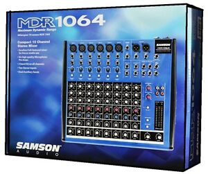 Samson-MDR1064-10-Channel-Mixer-Sound-Reproduction-Recording-Live-Sound-NEW
