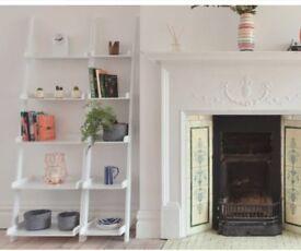Gorgeous white ladder shelves - Futon Company