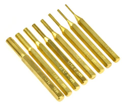 New 8-piece Brass Pin Drive Punch Set Gunsmith Drift Pin Hand Tools