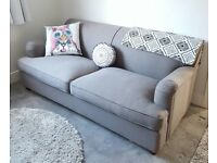 Sofa 3 Seater from MADE with a Sofa Bed Graphite Grey Orson Collection New!