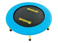 Reebok exercise trampoline. 36 inches diameter. Hardly used. Excellent condition.