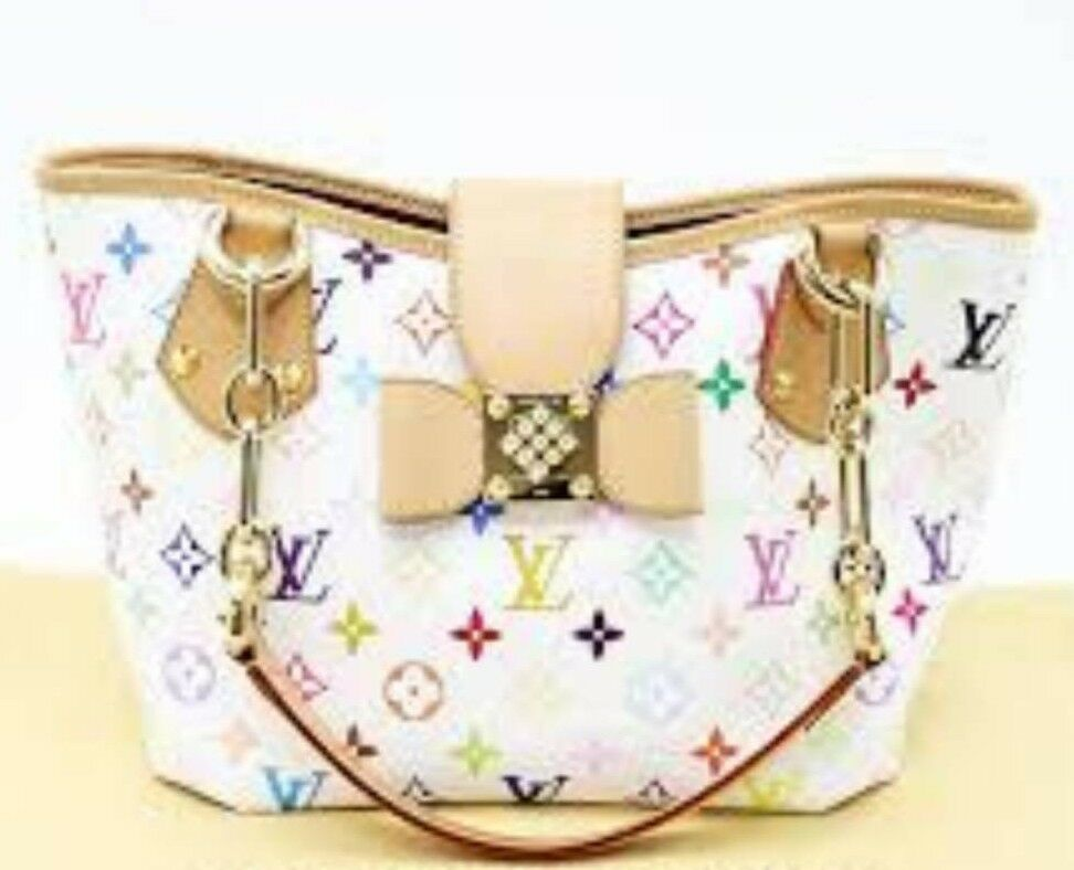 Genuine Louis Vuitton Multicolor Mammogram Annie Handbag