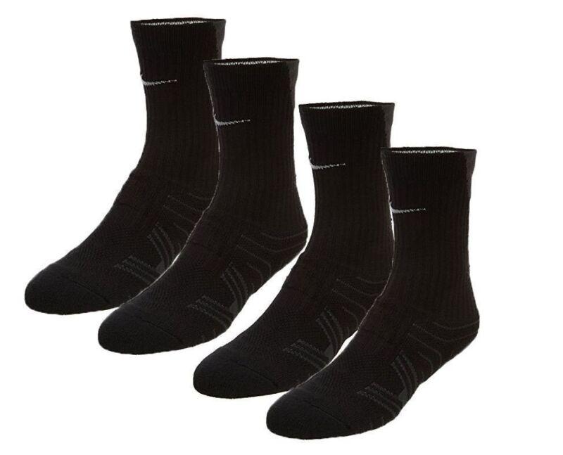 Nike Performance Cushioned Black/Gray Youth 3y-5y Crew Football Socks 2 pack NWT