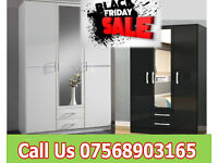 wardrobe brand new robes tall boy bedroom furniture fast delivery 37589