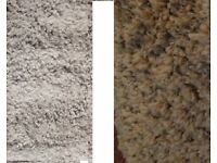 Brand New Bagged Shaggy Rugs in 2 Colours Silver Grey or Taupe GREY SOLD OUT