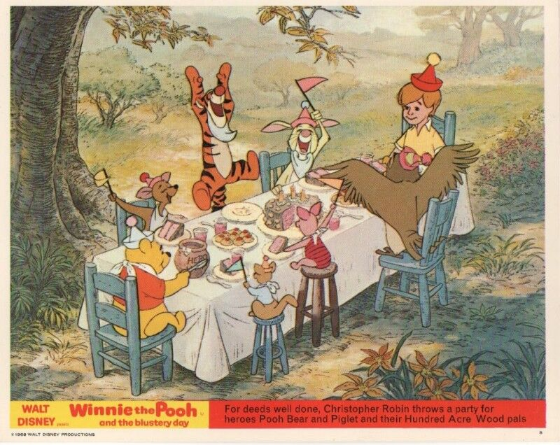 WINNIE THE POOH and the BLUSTERY DAY lobby card - TIGGER, POOH, EEYORE
