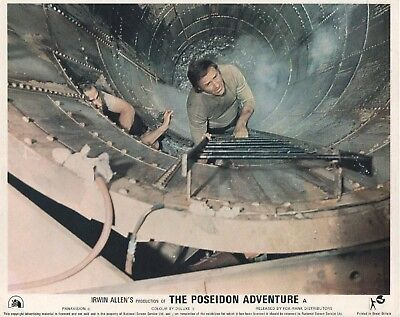 THE POSEIDON ADVENTURE lobby card print - GENE HACKMAN