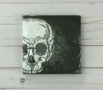 18+ Halloween Parties Ct (Paper Lunch Napkins 18 ct 2 Ply Party Halloween Skull)