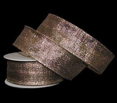 (25 Feet Christmas Silver Gold Threaded Metallic Wired Ribbon 1 1/2