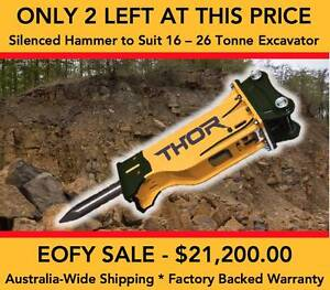 SILENCED HYDRAULIC ROCK HAMMER TO SUIT 16 – 26 TONNE MACHINE Tomago Port Stephens Area Preview