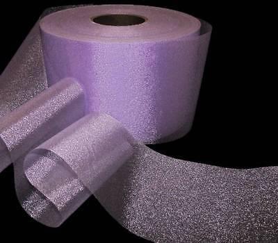 - 10 Yards Shimmering Pastel Purple Lavender Easter Wedding Wide Sheer Ribbon 5 5/