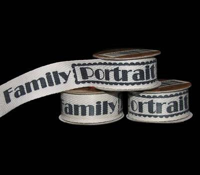 Family Ribbon - 12 Feet Family Portrait Scrapbook Twill Ribbon 5/8