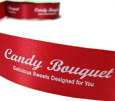 10 Yards SALE Custom Candy Bouquet Red Acetate Ribbon 1 5/16