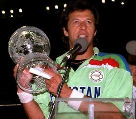 ORIGNAL PAKISTAN SHIRT FROM 1992 WORLD CUP WHERE IMRAN KHAN WAS THE CAPTAIN