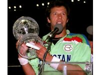 ORIGNAL PAKISTAN SHIRT FROM 1992 WORLD CUP WHERE IMRAN KHAN WAS THE CAPTAIN