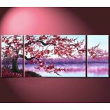 3PC Large Modern Abstract Art Oil Painting Wall Decor canvas(no framed)